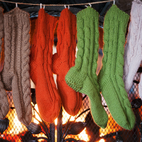 Sock Burning means Spring has Sprung