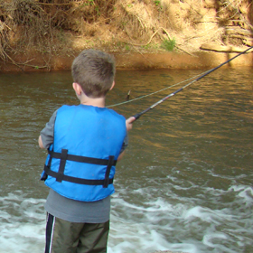 kind using one of the best beginner fly rods