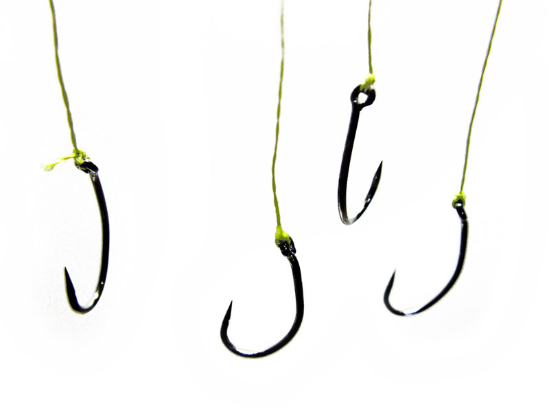 Barbless fishing hooks