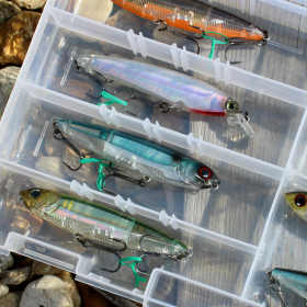 image of organized fishing tackle