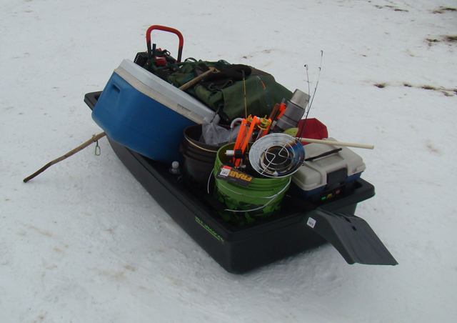 Ice Sled Loaded
