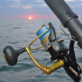 braided fishing line sunset