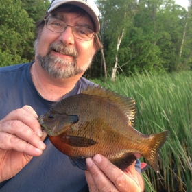 Fishing fo sunfish with a slip bobber