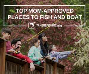 mom and son fishing at one of the Top Mom Approved Places in the U.S.