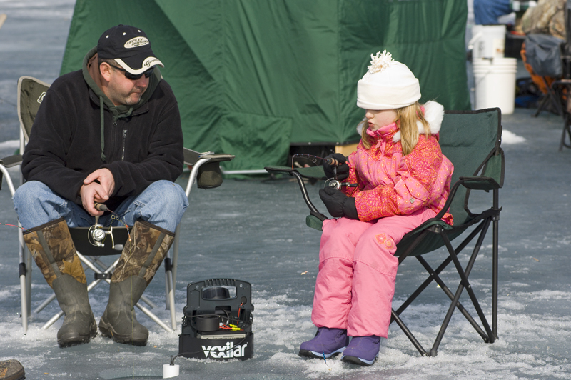 Fish safely this winter with your kids