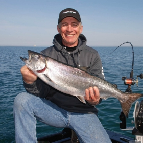 spring-caught big-lake chinook salmon