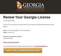 Georgia, RBFF Successful in Retaining First-Time License Buyers